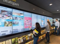 Touchwall Stuttgart, © Stuttgart-Marketing GmbH / Peter Hartung